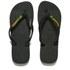 Havaianas Brasil Logo Flip Flops - Black: Image 1