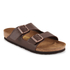 Birkenstock Men's Arizona Double Strap Sandals - Dark Brown: Image 3