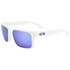 Oakley Men's Holbrook Matte Iridium Sunglasses - White: Image 2