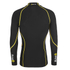 Skins Men's A200 Thermal Long Sleeve Compression Mock Neck Top - Black/Yellow: Image 2