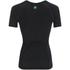 Skins Women's Coldblack Short Sleeve Top - Black/Blue: Image 2