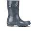 Hunter Women's Original Short Gloss Wellies - Graphite: Image 1