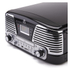 GPO Retro Memphis Turntable 4-in-1 Music System with Built in CD and FM Radio - Black: Image 4