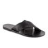 Ancient Greek Sandals Women's Thais Perforated Leather Slide Sandals - Black: Image 5