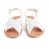 Ancient Greek Sandals Women's Maria Leather Sandals - White: Image 4