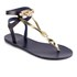 Ancient Greek Sandals Women's Ismene Leather Sandals - Marine/Platinum: Image 5