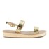 Ancient Greek Sandals Women's Clio Platform Leather Sandals - Platinum: Image 1