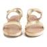 Ancient Greek Sandals Women's Clio Platform Leather Sandals - Platinum: Image 4