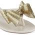 Melissa Women's Harmonic Glitter Bow Flip Flops - Ivory: Image 4