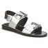 Folk Women's Lore Ruffle Detail Two Part Leather Sandals - Silver: Image 5