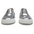 Folk Women's Isa Patent Leather/Suede Plimsoll Trainers - Silver: Image 4