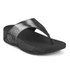 FitFlop Women's Lulu Shimmersude Toe Post Sandals - Black: Image 3