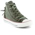 Converse Women's Chuck Taylor All Star Canvas Tri-Zip Hi-Top Trainers - Surplus Green: Image 4
