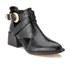 Senso Women's Malika Croc Leather Heeled Ankle Boots - Ebony: Image 5