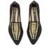 Kat Maconie Women's Esme Leather Mirror Pointed Flat Shoes - Black: Image 2