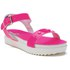 Love Moschino Women's Two Strap Patent Cleated Flatform Sandals - Pink: Image 5