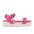 Love Moschino Women's Two Strap Patent Cleated Flatform Sandals - Pink: Image 1