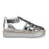 Jil Sander Navy Women's Leather Strappy Flatform Sandals - Dark Grey: Image 1