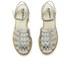 Jil Sander Navy Women's Leather Strappy Ankle Strap Sandals - Dark Grey: Image 2