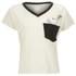 Wildfox Women's Romeo V Neck Pocket Bun T-Shirt - Vintage Lace/Dirty Black: Image 1