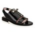 Carven Women's Two Strap Patent Leather Flat Sandals - Black: Image 5