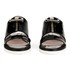 Carven Women's Two Strap Patent Leather Flat Sandals - Black: Image 4