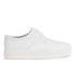 Ash Women's Keanu Cracked Leather Flatform Trainers - White: Image 1