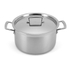 Le Creuset 3-Ply Stainless Steel Deep Casserole Dish with Lid - 24cm: Image 1