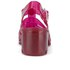 JuJu Women's Babe Heeled Jelly Sandals - Garnet: Image 3