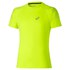 Asics Men's Stripe Shorts Sleeve Running T-Shirt - Safety Yellow: Image 1