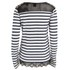 Maison Scotch Women's Long Sleeve T-Shirt with Lace Shoulder Detail - Black/White: Image 2