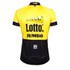 Santini Original Lotto Jumbo 15 Aero Short Sleeve Jersey - Yellow/Black: Image 3