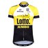 Santini Original Lotto Jumbo 15 Aero Short Sleeve Jersey - Yellow/Black: Image 1