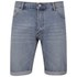 Cheap Monday Men's 'High Cut' Denim Shorts with Fold-Up - Sky: Image 1