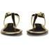 Lauren Ralph Lauren Women's Abegayle Metallic Trim Sandals - Black/Gold: Image 4