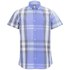 Duck and Cover Men's Cecil Check Short Sleeve Shirt - Ice Blue: Image 1
