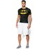 Under Armour Men's Batman Compression Short Sleeved T-Shirt - Negro/Amarillo: Image 3