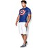 Under Armour Men's Transform Yourself Compression Top - Blue/White/Red: Image 5