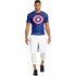 Under Armour Men's Transform Yourself Compression Top - Blue/White/Red: Image 6
