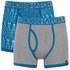 Pack de 2 boxers 'Squint' por Crosshatch - Mykonos Blue/Grey Marl: Image 1