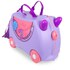 Trunki Bluebell Ride-On Suitcase - Purple: Image 1