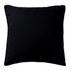 Black Linen Cushion - Black: Image 1