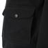 Knutsford Men's 'Made in England' Moleskin Zip-Through Bomber Jacket - Black Moleskin: Image 3