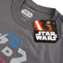 T-Shirt Homme Star Wars R2D2 Text Body - Gris Foncé: Image 3