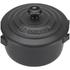 Le Creuset Stoneware Petite Casserole Dish - Satin Black: Image 3