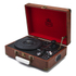 GPO Retro Attache Briefcase Style Three-Speed Portable Vinyl Turntable with Free USB Stick and Built-In Speakers - Vintage Brown: Image 1
