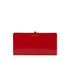 Lulu Guinness Women's Flat Frame Large Polished Calf Leather Purse - Red: Image 1
