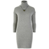 nümph Women's Roll Neck Jumper Dress - Light Grey: Image 1