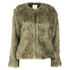 nümph Womens Fake Fur Box Jacket - Brown: Image 1