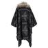 ONLY Women's Kiva Faux Fur Poncho - Dark Grey Melange: Image 2
